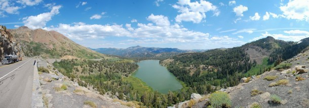 Donner Lake, one of the many beautiful views on the way to Lake Tahoe.
