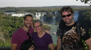 My mother, brother and I at Iguazu.
